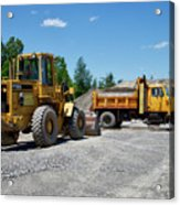 Gravel Pit Loader And Dump Truck 03 Acrylic Print