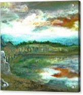 Gravel Pit Overgrown Acrylic Print