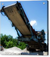 Gravel Pit Warrior Power Screen 01 Acrylic Print