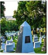 Graves At Sunrise Arlington Cemetery Acrylic Print