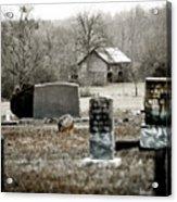 Graveyard Barn Acrylic Print