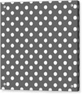 Gray And White Polka Dots Acrylic Print