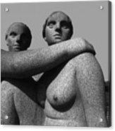 Gray Nudes In Oslo Acrylic Print