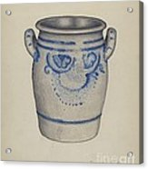 Gray Pottery Jar Acrylic Print