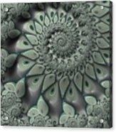 Gray Spiral Acrylic Print
