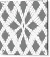 Gray Twisted Braids Acrylic Print