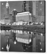 Grayscale Columbus Acrylic Print
