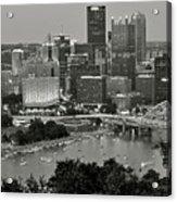 Grayscale Pittsburgh Acrylic Print