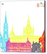 Graz Skyline Pop Acrylic Print
