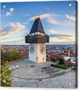 Graz Sunset Panorama Acrylic Print