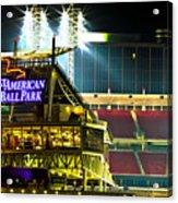 Great American Ballpark Acrylic Print by Keith Allen