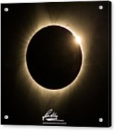 Great American Eclipse 16x9 Totality Square As Seen In Albany, Oregon Signature Edition. Acrylic Print