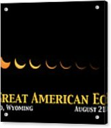 Great American Eclipse 2 Acrylic Print