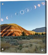 Great American Eclipse Composite 2 Acrylic Print