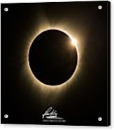 Great American Eclipse Diamond Ring 5x7 As Seen In Albany, Oregon.  Signature Edition Acrylic Print