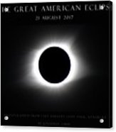 Great American Eclipse - Triptych Acrylic Print