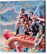 Great American Hot Dog Acrylic Print