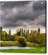 Great Barford River View Acrylic Print