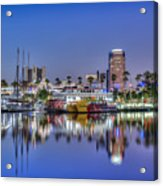 Great Blue Water Reflections Acrylic Print