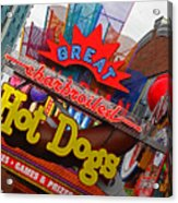 Great Charbroiled Hot Dogs Acrylic Print