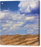 Great Colorado Sand Dunes Mixed View Acrylic Print
