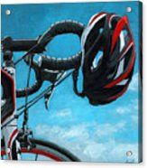 Great Day - Bicycle Oil Painting Acrylic Print by Linda Apple