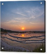 Great Fountain Geyser Sunset  Acrylic Print