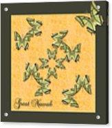 Great Nawab Butterfly Wheel Acrylic Print