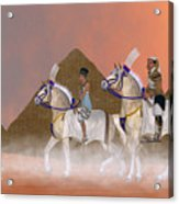 Great Pyramids And Nobility Acrylic Print