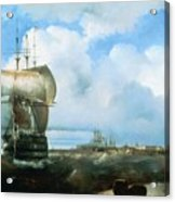 Great Roads At Kronstadt In 1836 715 H93 Ivan Konstantinovich Aivazovsky Acrylic Print