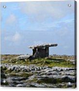 Great Rock Poulnabrone Portal Tomb Acrylic Print