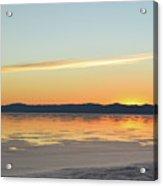Great Salt Lake At Sunset 4 Acrylic Print