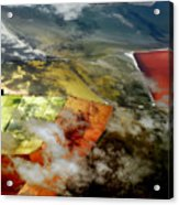 Great Salt Lake From The Air Acrylic Print