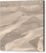 Great Sand Dunes  - In Sepia Acrylic Print
