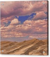 Great Sand Dunes And Great Clouds Acrylic Print