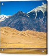 Great Sand Dunes In Colorado Acrylic Print