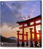 Great Torii Of Miyajima At Sunset Acrylic Print