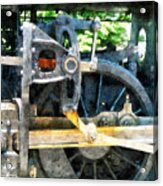 Great Western 90 Wheel Closeup Acrylic Print
