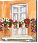 Grecian Balcony Acrylic Print