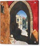 Grecian Passageway Acrylic Print