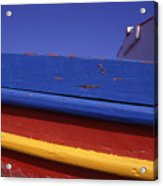 Greece. Colorful Fishing Boat Acrylic Print
