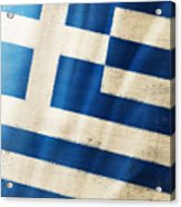 Greece Flag Acrylic Print by Setsiri Silapasuwanchai