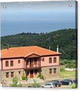 Greece Summer Vacation Landscape Acrylic Print