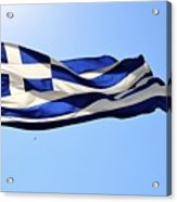 Greek Flag Acrylic Print