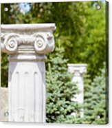 Greek Ionic Columns Acrylic Print