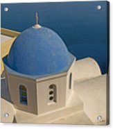 Greek Island Dome Acrylic Print