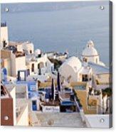Greek Island Volcanic Town Acrylic Print