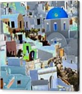 Greek Isle Of Santorini Acrylic Print