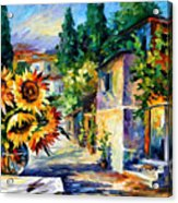 Greek Noon - Palette Knife Oil Painting On Canvas By Leonid Afremov Acrylic Print
