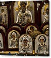 Greek Orthodox Church Icons Acrylic Print